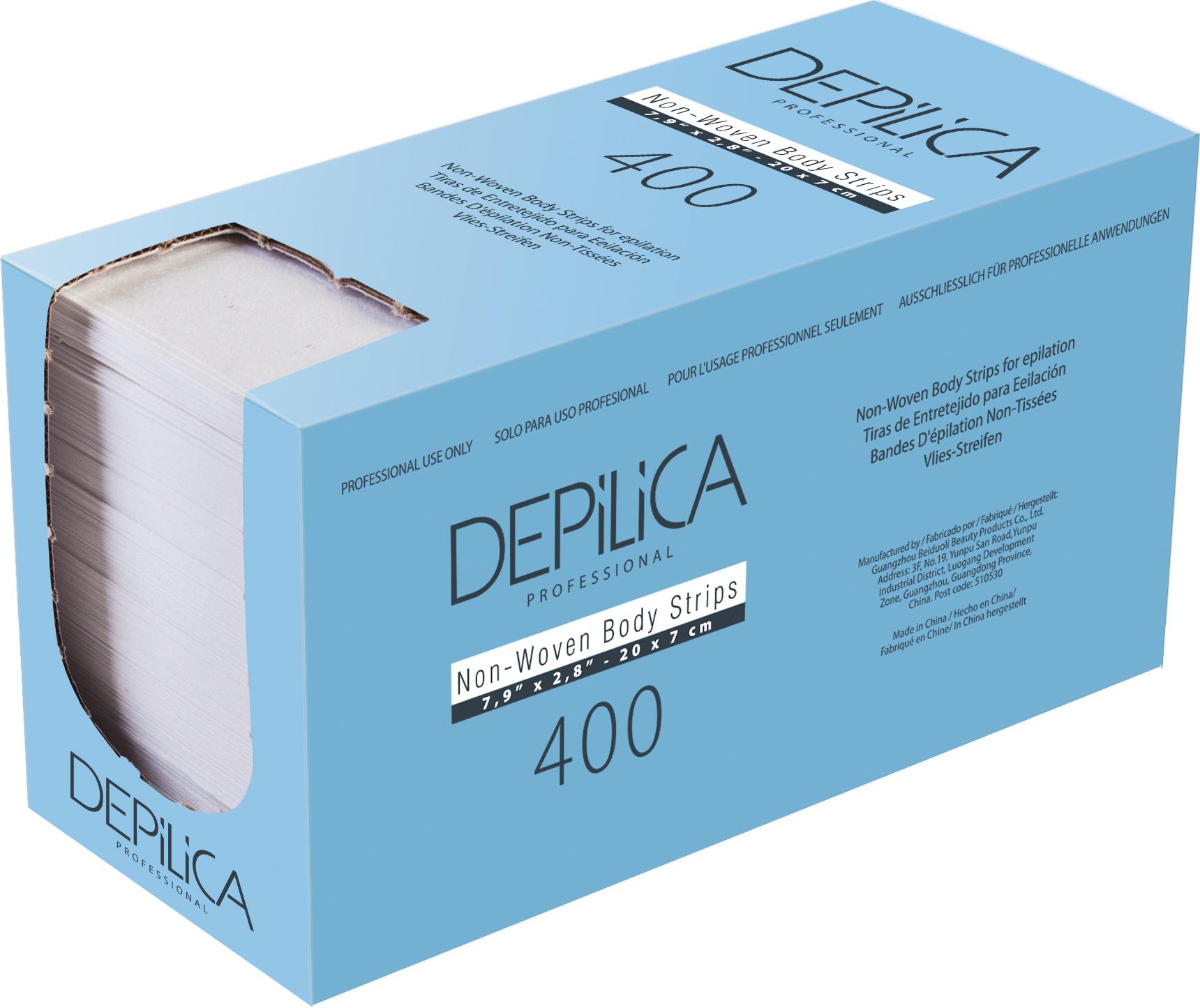 DEPILICA PROFESSIONAL Полоски нетканые для эпиляции / Non-Woven Body Strips 7*20 см 400 шт