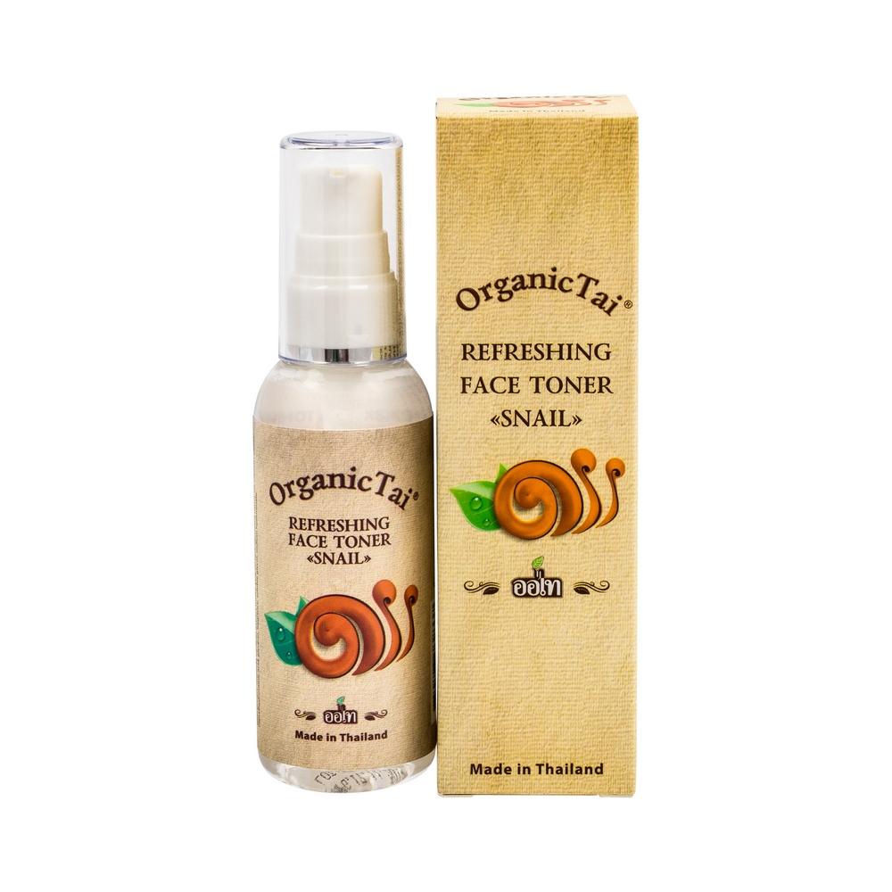 ORGANIC TAI Тоник освежающий для лица с экстрактом улитки 60 мл organic tai крем интенсивный антивозрастной для нормальной и сухой кожи лица с экстрактом улитки 50 мл