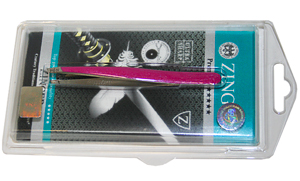 ZINGER Пинцет цветной Малиновый перламутр эмаль / zp-5311-D095V, ZP