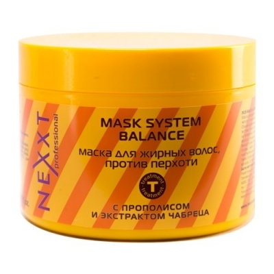 NEXXT professional Маска для жирных волос, против перхоти / MASK SYSTEM BALANCE 500мл