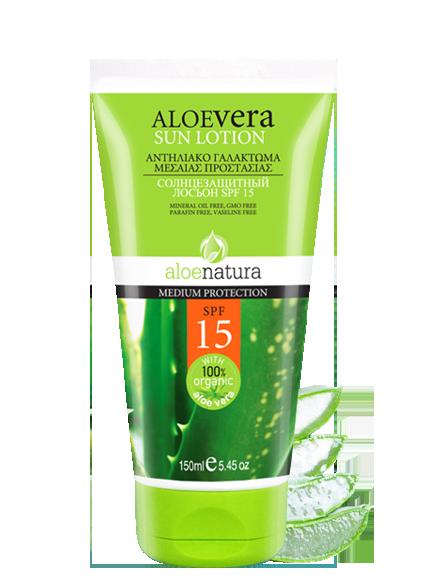 MADIS Крем-лосьон солнцезащитный для тела, SPF15 / AloeNatura 150 гр