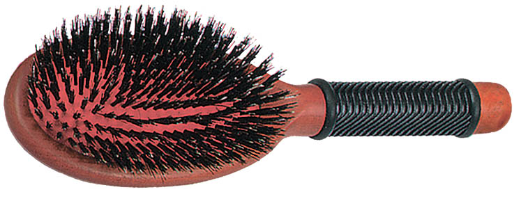 SIBEL Щетка Classic массажная деревянная, большая, натуральная щетина sibel щетка деревянная малая щетина