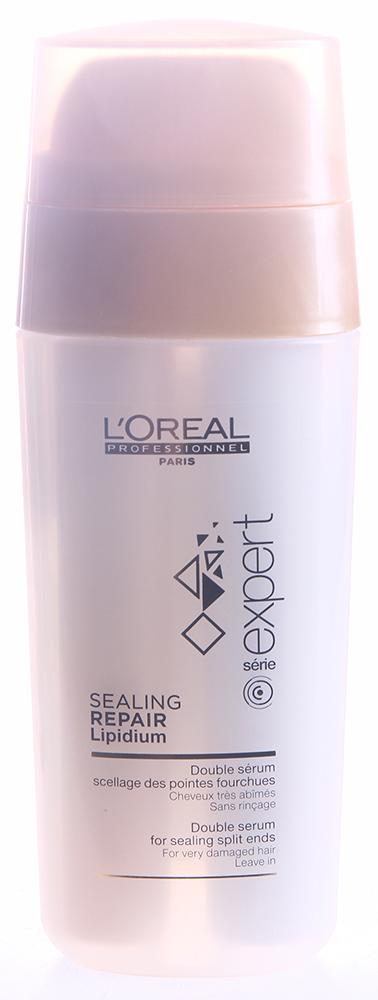 LOREAL PROFESSIONNEL Сыворотка двухфазная для очень поврежденных волос / АБСОЛЮТ РЕПЭР ЛИПИДИУМ 30млСыворотки<br>Двухфазная сыворотка глубоко реконструирует и восстанавливает секущиеся кончики для всех типов волос. Мощная восстанавливающая формула обогащена комплексом Lipidium и керамидов. Соединение этих двух формул обеспечивает уникальный восстанавливающий эффект. Под воздействием высоких температур ксилоза воссоединяет клетки волос, защищая, укрепляя и улучшая их целостность.Активные ингредиенты: технологии Липидиум + Ксилоза.Способ применения: распределите по сухим волосам, по длине и кончикам, сделав 1-2 нажатия. Используйте разглаживающий утюжок или фен для запечатывания средства, продления эффекта и увеличения мягкости.<br><br>Вид средства для волос: Восстанавливающий<br>Типы волос: Поврежденные<br>Назначение: Секущиеся кончики