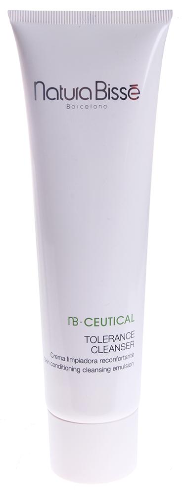 NATURA BISSE Эмульсия очищающая / Tolerance Cleanser NB CEUTICAL 150млЭмульсии<br>Мягкая пенящаяся эмульсия для нежного очищения кожи. Средство эффективно удаляет остатки макияжа и различного рода загрязнения. Растительные экстракты зеленого чая, ромашки, бузины восстанавливают pH-баланс, успокаивают и глубоко очищают кожу. Витамин E и лецитин обеспечивают глубокое увлажнение кожи и антиоксидантную защиту. Мягко и эффективно очищает чувствительную, раздраженную кожу. Смягчает и увлажняет. Оказывает противовоспалительное действие. Активные ингредиенты (состав): Water (Aqua), Cetearyl Alcohol, Cetearyl Ethylhexanoate, Sodium Lauroyl Sarcosinate, Glycerin, Cocamidopropyl Betaine, Sodium Cetearyl Sulfate, Sambucus Nigra Flower Extract, Chamomilla Recutita (Matricaria) Flower Extract, Camellia Sinensis Leaf Extract, Propylene Glycol, Lecithin, Tocopherol, Glyceryl Stearate, Ascorbyl Palmitate, Glyceryl Oleate, Lactic Acid, Disodium EDTA, Sodium Chloride, Tetrasodium EDTA, Citric Acid, Sodium Benzoate, Potassium Sorbate, Methylisothiazolinone, Fragrance (Parfum), Flavor (Aroma). Способ применения: небольшое количество эмульсии нанести на влажную кожу, слегка вспенить. Массажными движениями очистить кожу и смыть водой.<br><br>Типы кожи: Чувствительная<br>Консистенция: Мягкая