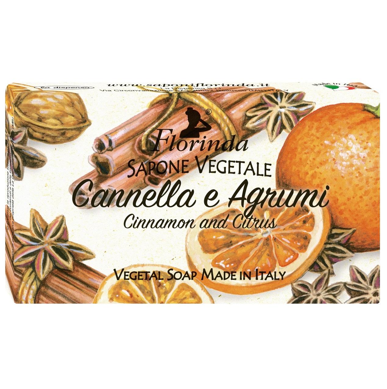 Купить FLORINDA Мыло растительное, корица и цитрус / Cannella e Agrumi 100 г