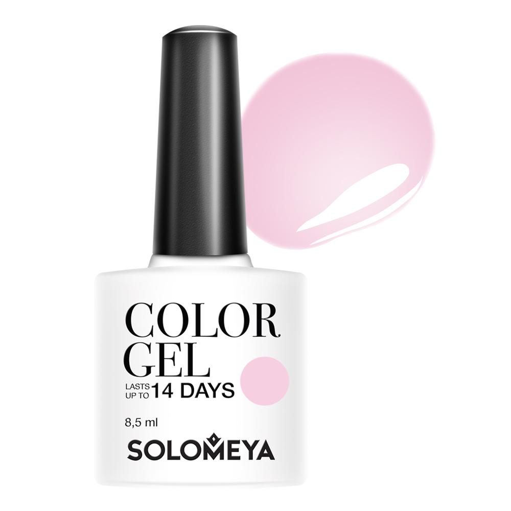 Купить SOLOMEYA Гель-лак для ногтей 113 Розовый шелк / Color Gel Pinkish silk 8, 5 мл, Розовые