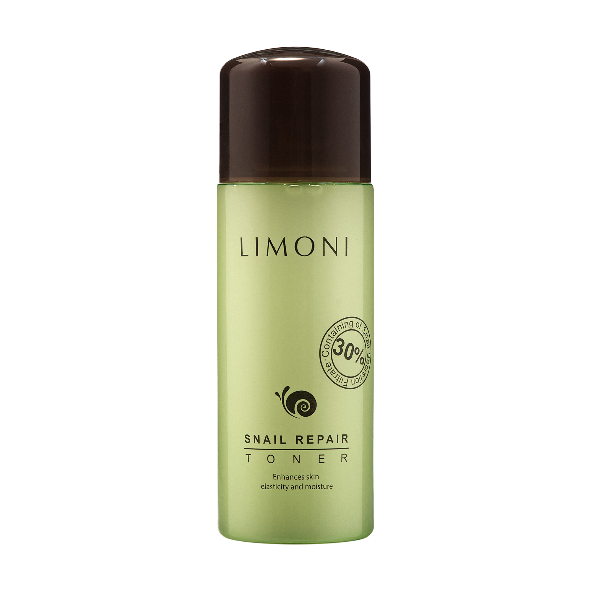 LIMONI Тоник восстанавливающий с экстрактом секреции улитки / SNAIL REPAIR 150 млТоники<br>Восстанавливающий тоник содержит до 30% экстракта слизи улитки, которая направлена на регенерацию клеток кожи. Предназначен для ежедневного мягкого отшелушивания и очищения кожи. Тоник ускоряет обновление верхнего слоя кожи, выравнивает текстуру, устраняет черные точки и предотвращает закупорку пор, смягчает кожу, уменьшает пигментацию, регулирует кислотно-щелочной баланс кожи. Убирает чувство стянутости после умывания. Тоник бережно очищает кожу лица и улучшает проникновение нанесенных следом уходовых средств (сывороток, кремов). Активные ингредиенты: Экстракт секреции улитки   активно способствует сужению пор, заживлению рубцов и шрамов, повышает защитную функцию кожи. Гидрогенизированный лицетин   активизирует липидный обмен в коже, смягчает ее, оптимизирует функцию сальных желез. Способствует восстановлению барьерных функций кожи и препятствует испарению влаги из глубоких слоев. Трипептид меди 1 при взаимодействии с аденозином   восстанавливает клетки кожи, разглаживая мелкие морщинки. Растительные экстракты (полыни горькой, цветов арники горной, корня горечавки, тысячелистника)   успокаивают раздраженную, чувствительную кожу, уменьшают воспаления, оказывают антибактериальное действие, защищают клетки кожи от воздействия свободных радикалов и замедляют процессы старения. Способ применения: после этапа очищения нанесите небольшое количество тоника на ватный диск, протрите лицо по массажным линиям, от центра к краям, избегая области губ и глаз. Рекомендуется применять ежедневно, утром и вечером.<br>