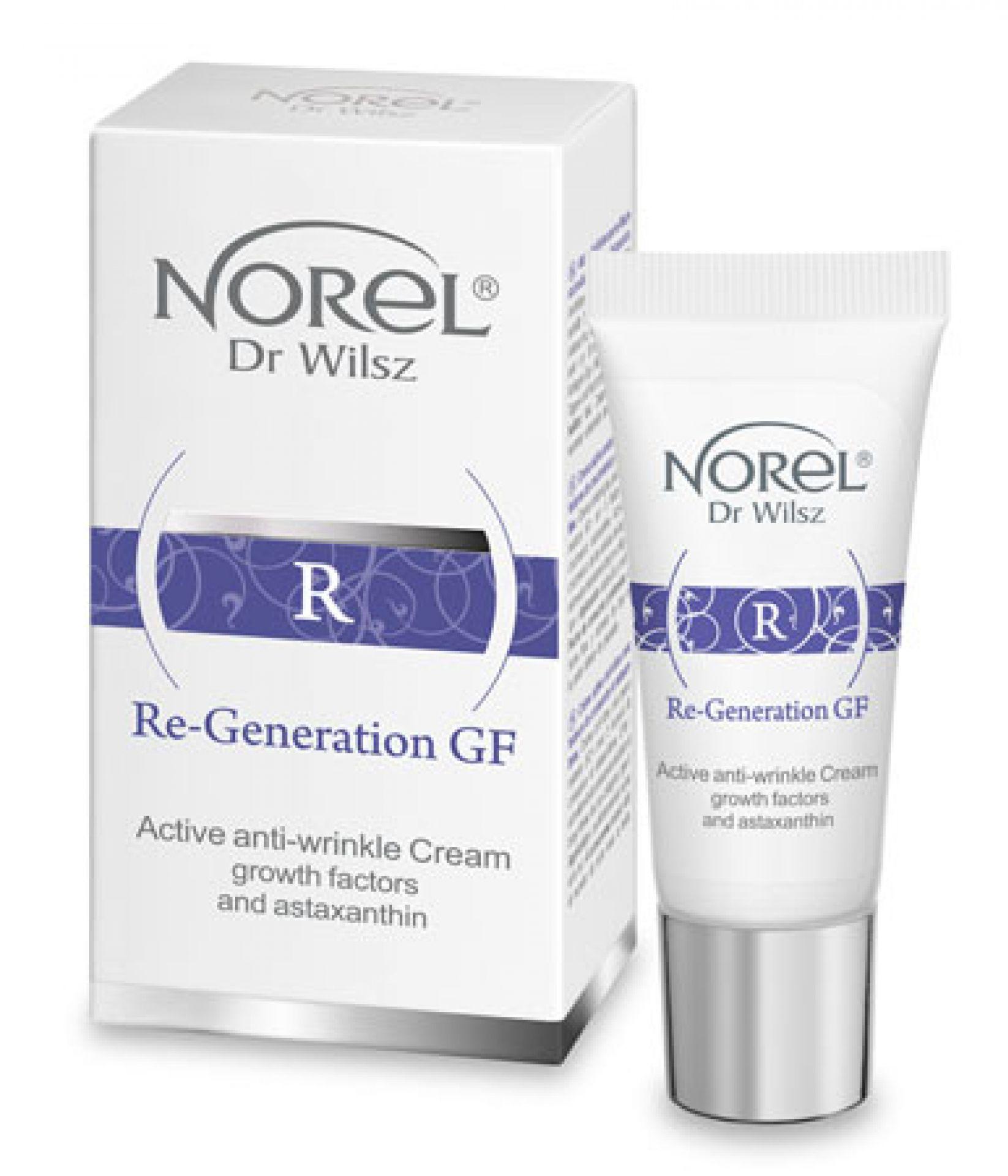 NOREL Dr. Wilsz Крем активный с пептидами, био-плацентой и астаксантином против морщин для лица / Anti-wrinkle Cream with growth factors 15 мл - Кремы