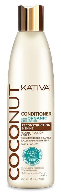 Купить KATIVA Кондиционер восстанавливающий с органическим кокосовым маслом для поврежденных волос / COCONUT 250 мл
