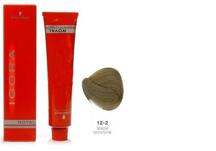 SCHWARZKOPF PROFESSIONAL 12-2 краска для волос / Игора Роял 60млКраски<br>IGORA Royal Colorist`s Color Creme - уникальный комплекс, состоящий из высокоэффективных микрочастиц, которые легко проникают внутрь волоса и отлично закрепляются по принципу магнита, формируя окончательный цветовой пигмент во время процесса окисления. Результат - отличное покрытие седины и интенсивный насыщенный цвет на длительное время. Ухаживающие протеины масла дерева Moringa Oleifera, содержащиеся в крем краске, укрепляют структуру волоса, защищают волосы от загрязнений окружающей среды и UV-излучения. Свежий косметический аромат, роскошная палитра нюансов, а также легкость в применении - все это позволяет достигать результатов самого высокого уровня.<br><br>Цвет: Пепельный<br>Объем: 60<br>Класс косметики: Косметическая