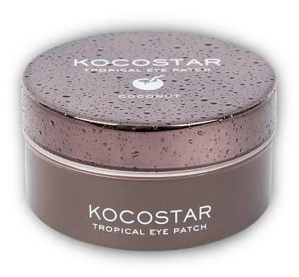 KOCOSTAR Патчи гидрогелевые для глаз Тропические фрукты, кокос / Tropical Eye Patch Coconut Jar 60 патчей - Патчи