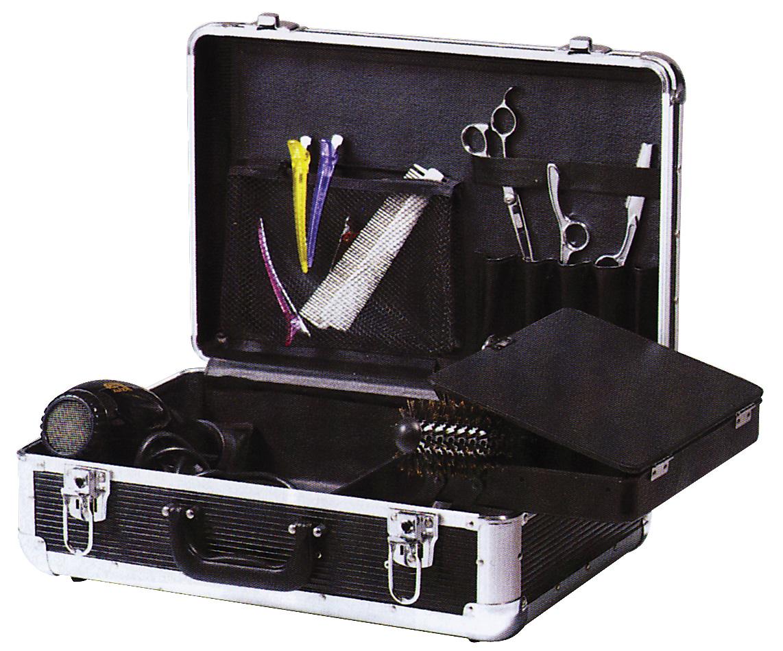 Купить DEWAL PROFESSIONAL Чемодан для парикмахерских инструментов, пластик, черный 45х30, 5х16 см