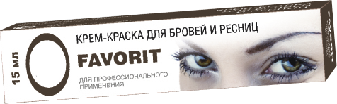 FARMAVITA Краска для бровей и ресниц, светло-коричневый / FAVORIT 15мл