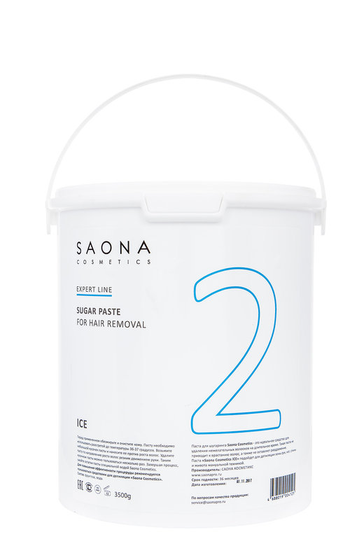 SAONA COSMETICS Паста сахарная очень мягкая для шугаринга № 2 / ICE Expert Line 3500 г - Сахарные пасты