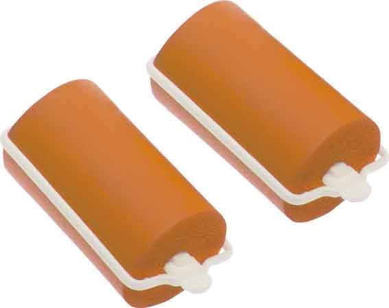 Купить DEWAL BEAUTY Бигуди резиновые оранжевые, d 32x70 мм 10 шт