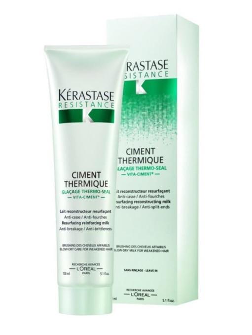 KERASTASE Термо-уход перед укладкой для всех типов поврежденных волос Цемент Термик / РЕЗИСТАНС 150 мл - Молочко