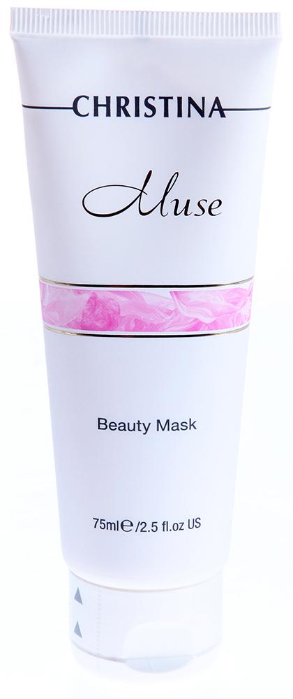 CHRISTINA Маска красоты / Beauty Mask MUSE 75млМаски<br>Плотная непрозрачная эмульсия, рН 6,8-7,9. Эффективная доставка активных веществ в кожу (благодаря окклюзии). Маска не высыхает и не стягивает кожу.&amp;nbsp; Активные ингредиенты: пчелиный воск, масло купуасу (Theobroma grandiflorum), розовая вода, каприловые триглицериды, глицерин, экстракт семян льна (Linum usitatissimum), экстракт петрушки (Carum petroselinum), аллантоин. Способ применения: нанесите косметическую маску на область лица и декольте до достижения единого слоя. Оставьте на 7-10 минут. Маска не высыхает на коже. Смойте её с помощью одноразового спонжа и тёплой воды.<br><br>Вид средства для лица: Пчелиный