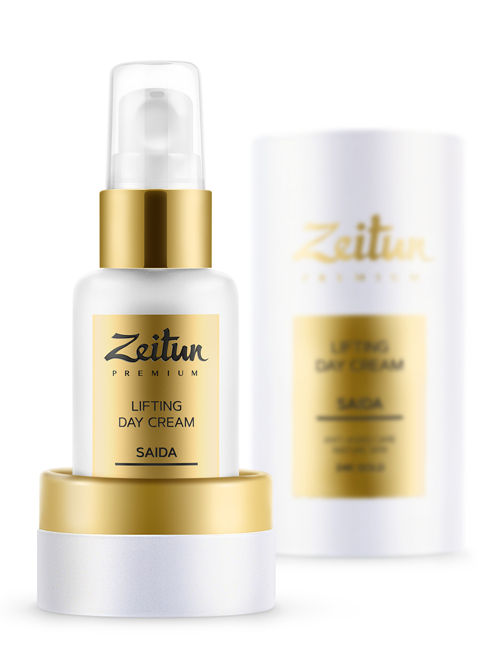 ZEITUN Крем-лифтинг разглаживающий дневной с 24K золотом для зрелой кожи / SAIDA 50 мл