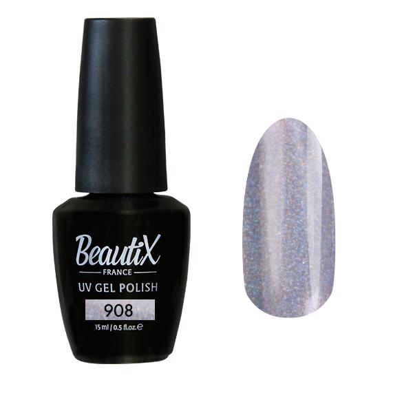 Купить BEAUTIX 908 гель-лак для ногтей 15 мл, Серые