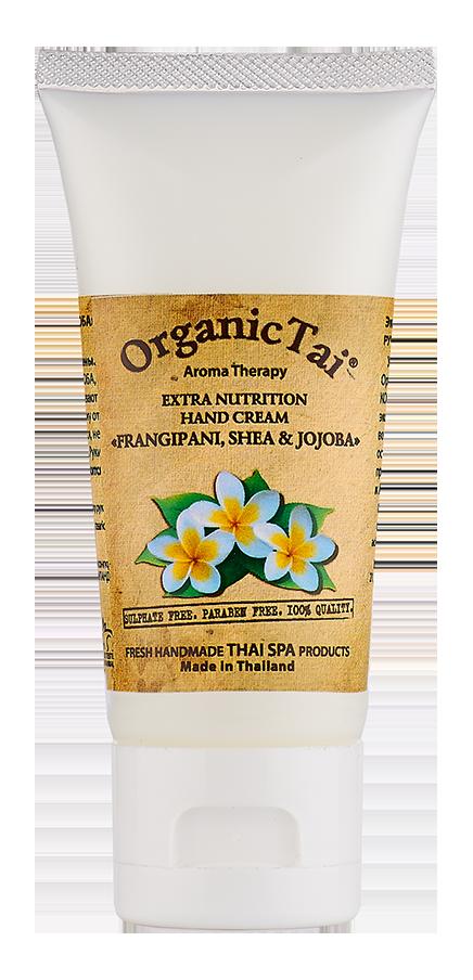 ORGANIC TAI Крем экстрапитательный для рук Франжипани, ши и жожоба 60мл