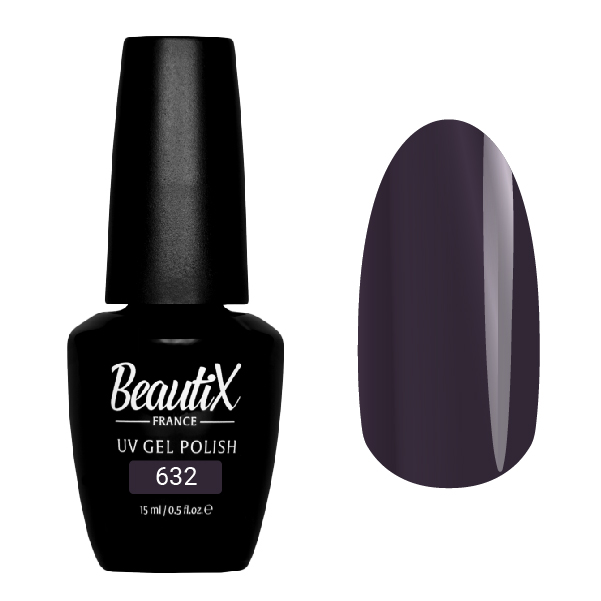 Купить BEAUTIX 632 гель-лак для ногтей 15 мл, Фиолетовые