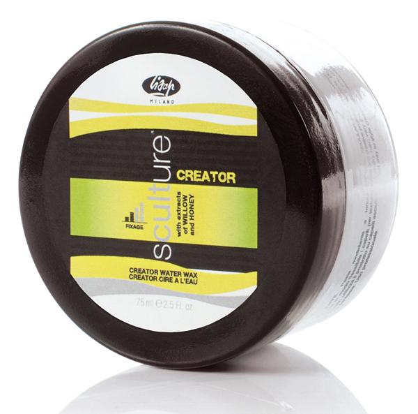 LISAP MILANO Воск нормальной фиксации для волос / Creator Water Wax SCULTURE 75млВоски<br>Идеальное средство для придания формы и блеска. Подходит для создания разных эффектов, не утяжеляет волосы. Средняя фиксация. Устраняет пушистость, не оставляет следов на волосах. Способ применения: наносить пальцами на сухие волосы, чтобы акцентировать линии прически, на влажные волосы для создания мокрого эффекта<br>