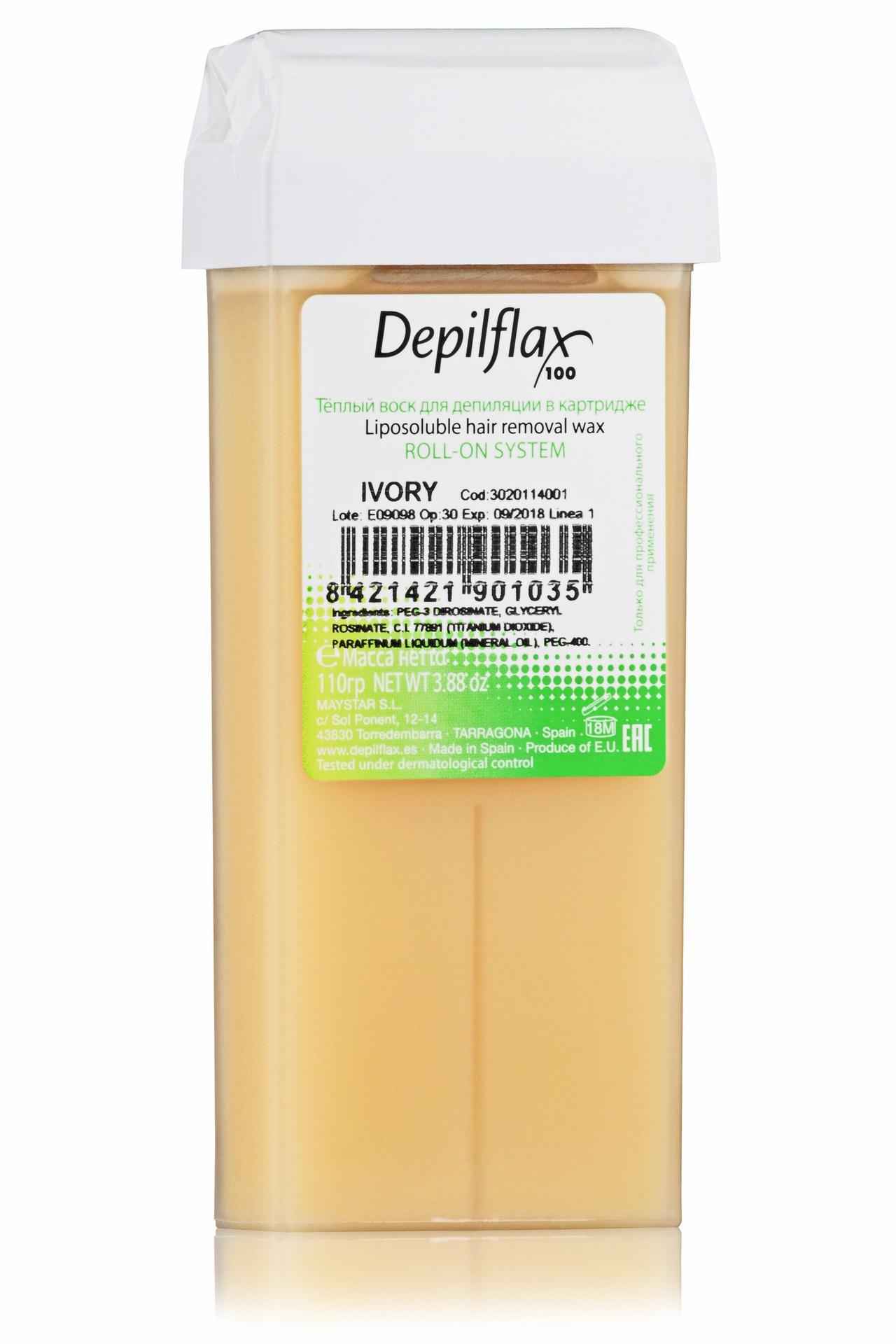 DEPILFLAX 100 Воск для депиляции в картридже, слоновая кость 110 г trendy воск для депиляции микромика в картридже 100 мл