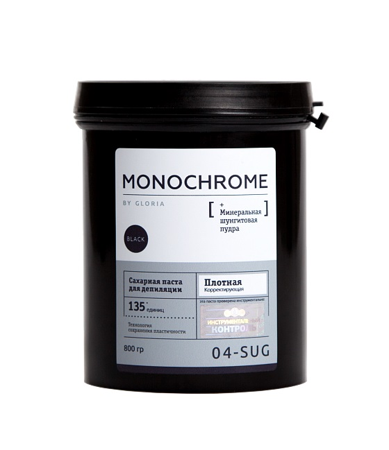 GLORIA Паста сахарная плотная корректирующая для депиляции / Monochrome 0,8 кг - Сахарные пасты