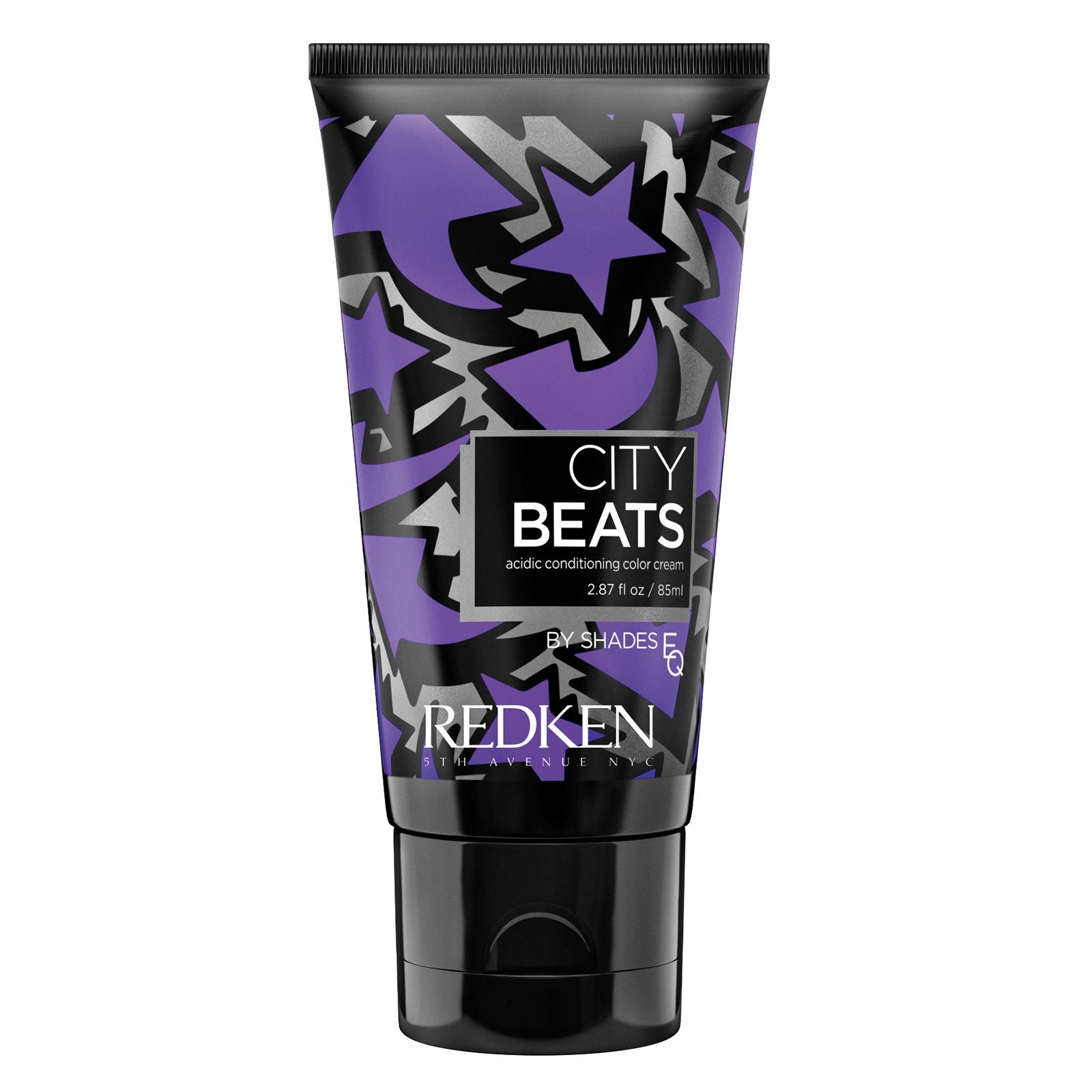 REDKEN Крем с тонирующим эффектом для волос Черничные ночи в Ист-Виллидж (фиолетовый) / CITY BEATS 85 мл