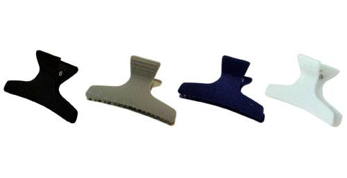 SIBEL Зажим пластиковый широкий, 4 цвета, 12шт/уп (42062), Sibel -  Зажимы