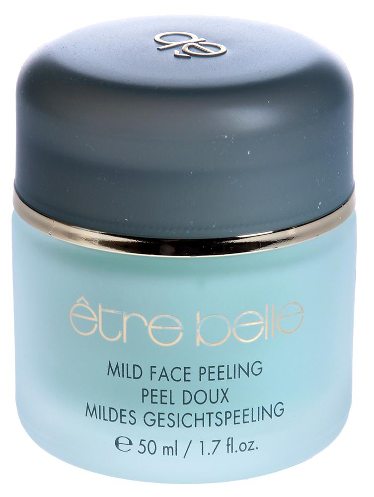 ETRE BELLE Пилинг для лица с мятой / Face Peel 50млПилинги<br>Мягкий пилинг на кремовой основе с приятным запахом мяты. Отшелушивающие частички сделаны из специального полимера, благодаря чему имеют абсолютно круглую форму и не повреждают кожу. Пилинг прекрасно размягчает роговой слой, глубоко очищает поры и подготавливает к более эффективному проникновению активных веществ. Показание: для всех типов кожи, за исключение кожи с угревой сыпью и воспалениями Активные вещества: полимеры (шлифующие частички), Алоэ Вера, масло мяты Способ применения: После предварительного очищения нанести на кожу лица пилинг, помассировать 5-7 минут и обильно смыть водой.<br><br>Консистенция: Мягкая