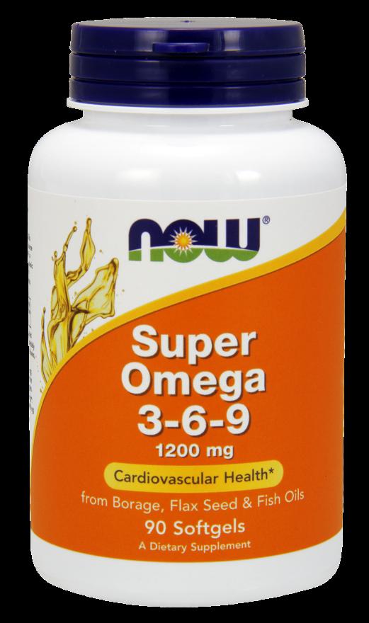 NOW FOODS Супер Омега 3-6-9, капсулы 1600 мг № 90 - Витамины и минералы