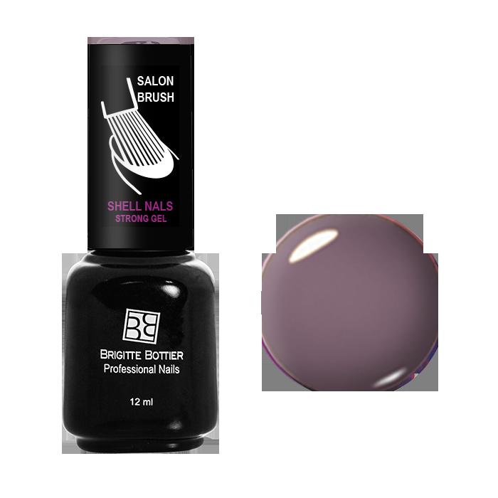 BRIGITTE BOTTIER 969 гель-лак для ногтей, серо-коричневый / Shell Nails 12 мл