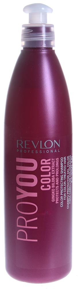 REVLON Шампунь для сохранения цвета окрашенных волос / PROYOU COLOR 350млШампуни<br>Шампунь Proyou Color создан для сохранения цвета окрашенных волос, он фиксирует результат окрашивания вплоть до следующего процесса смены цвета волос. Средство наполняет светлые, блондированные и мелированные волосы энергией, усиливающей цвет светлых волос. В состав шампуня входят гинкго билоба и UVA/UVB фильтры, защищающие волосы от воздействия солнечных лучей, приводящих к потере цвета. Восстанавливающие ингредиенты позволяют сохранить цвет волос на еще более длительный срок. Текстура шампуня прозрачная. Подходит для частого применения.  Активные ингредиенты: Экстракт гинкго билоба, UVA/UVB фильтры, восстанавливающие ингридиенты.  Способ применения: Нанесите небольшое количество шампуня на увлажненные теплой водой волосы. Помассируйте несколько минут, а затем смойте. После использования шампуня рекомендуется воспользоваться одной из питательных масок Revlon.<br><br>Цвет: Светлый<br>Типы волос: Окрашенные