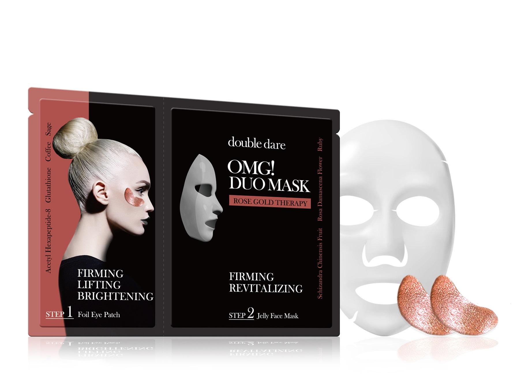 DOUBLE DARE OMG! Комплекс двухкомпонентный из маски и патчей Упругость и ревитализация / DUO 29 г фото