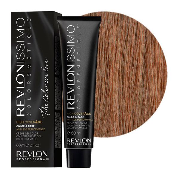 REVLON Professional 7-41 краска для волос, натуральный ореховый блондин / RP REVLONISSIMO COLORSMETIQUE High Coverage 60 мл revlon краситель перманентный 7 44 блондин гипер медный rp revlonissimo colorsmetique 60 мл