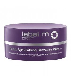 LABEL M Маска восстанавливающая label.m / 120млМаски<br>Интенсивная восстанавливающая маска в виде концентрированного крема регенерирует, укрепляет и омолаживает волосы. Создана для быстрой регенерации и преобразования волос. Не содержит сульфаты, парабены и хлорид натрия. Способ применения: нанесите маску от корней до самых кончиков. Оставьте на 5 минут, затем тщательно промойте волосы тёплой водой. Для лучшего результата используйте один-два раза в неделю как часть Антивозрастной терапии.<br><br>Объем: 120 мл<br>Вид средства для волос: Восстанавливающий<br>Типы волос: Возрастные
