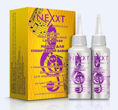 NEXXT professional Био-перманент № 1 с кондиционирующим эффектом для нормальных волос / SOLO-BIO PERM KERATIN WAVE LADY JOKER 2*110 мл