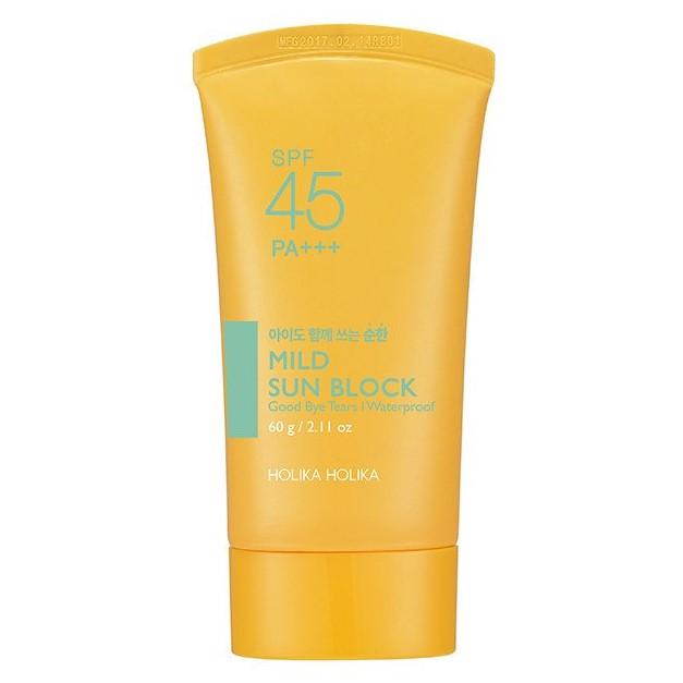 HOLIKA HOLIKA Крем увлажняющий солнцезащитный для чувствительной кожи Сан 2017 / Mild Sun Block 60гр