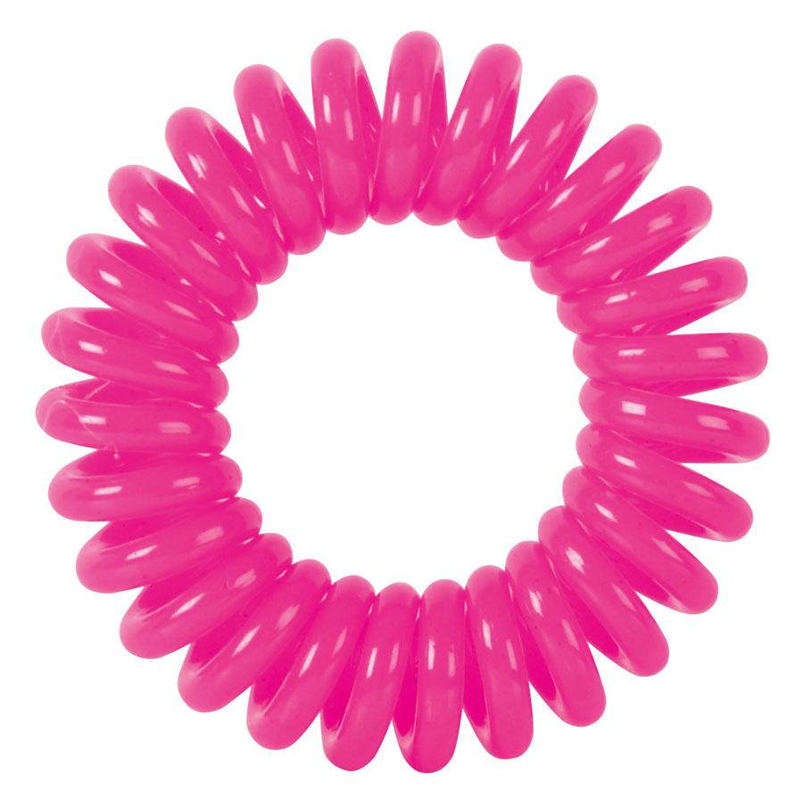 DEWAL BEAUTY Резинки для волос Пружинка, цвет розовый 3 шт