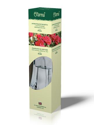 """ELFARMA Ароматизатор воздуха с натуральным эфирным маслом """"Роза"""" 90мл"""