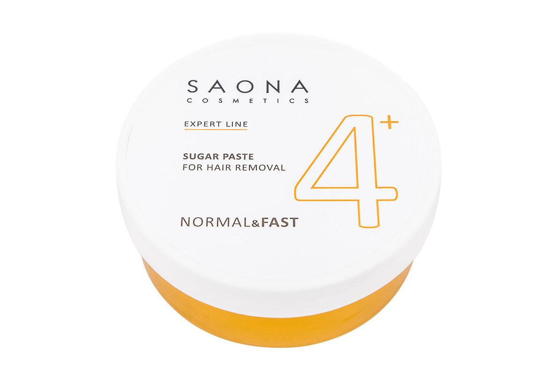 SAONA COSMETICS Паста сахарная нормальная для шугаринга № 4+, без разогрева / NORMAL&FAST Expert Line 200 г - Сахарные пасты