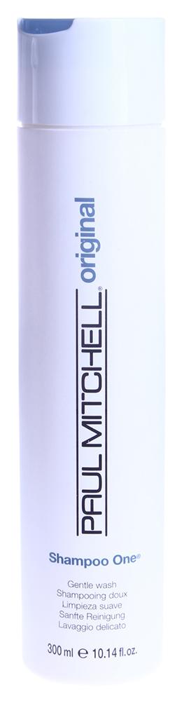 PAUL MITCHELL Шампунь Один -очищение / ONE 300млШампуни<br>Универсальный шампунь для нежного очищения Пол Митчелл обладает комплексным воздействием на волосы, помогает придать волосам форму.  Shampoo One Paul Mitchell (Шампунь  1) предназначен для мягкой очистки и имеет мягкий состав на основе растительных компонентов, сохраняющий цвет волос. Шампунь для нежного очищения придает волосам больший объём и потрясающий блеск. Способ применения: Нанести на влажные волосы, помассировать, смыть большим количеством воды.<br>