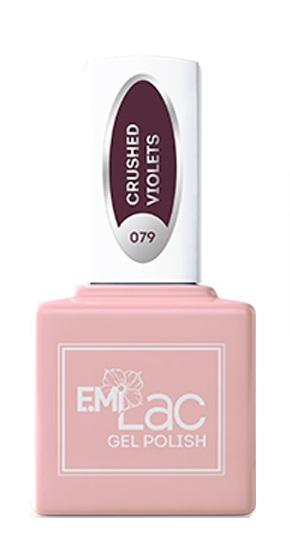 Купить E.MI 079 RT гель-лак для ногтей, Сухие фиалки / E.MiLac 6 мл, Фиолетовые
