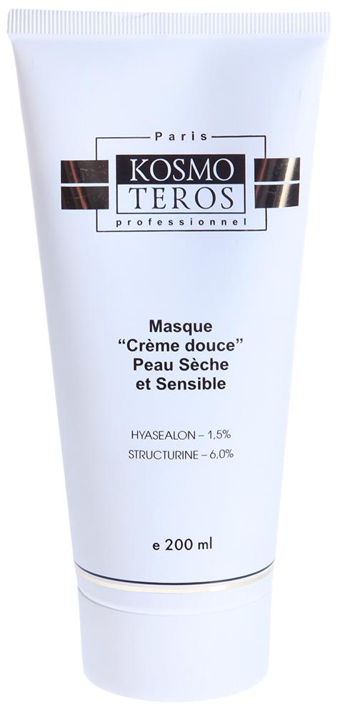 KOSMOTEROS PROFESSIONNEL Маска увлажняющая Нежные сливки 200млМаски<br>Нежная питательная маска для ухода за сухой, чувствительной кожей с глубоким питательным эффектом. Можно использовать в качестве массажного средства. Действие: Содержит натуральные сливки, которые улучшают структуру внутренних слоев кожи. Действие маски направлено на устранение внешних признаков старения кожи - она выравнивается, приобретает сияние, повышается ее жизнеспособность. Имеет легкую кремовую текстуру и приятный аромат сливочного персика. Активные ингредиенты: Сливки натуральные. Масло кукурузное. Экстракт зеленого чая. Экстракт родиолы. Экстракт розмарина. Экстракт солодки. Масло какао. Масло оливковое. Витамин Е. Витамин А. Способ применения: 1-2 раза в неделю нанести маску на очищенную кожу лица, шеи и декольте.<br><br>Объем: 200