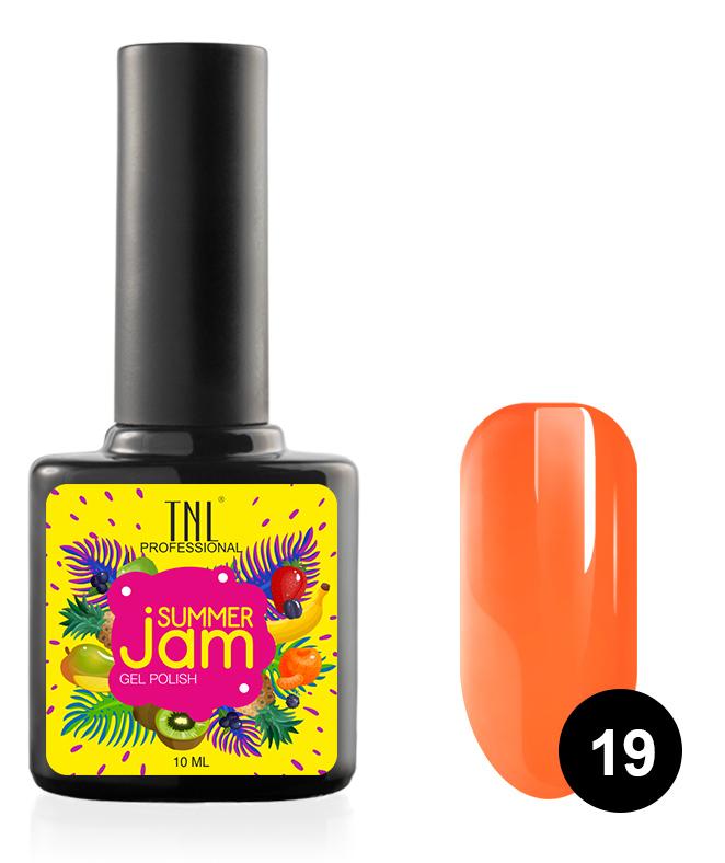 Купить TNL PROFESSIONAL 19 гель-лак для ногтей, неоновый оранжевый / Summer Jam 10 мл, Оранжевые