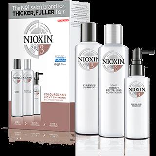 NIOXIN Набор XXL Система 3 (шампунь очищающий 300 мл, кондиционер увлажняющий 300 мл, маска питательная 100 мл)