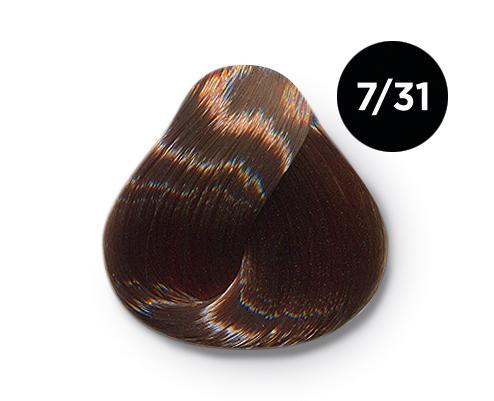 OLLIN PROFESSIONAL 7/31 краска для волос, русый золотисто-пепельный / OLLIN COLOR 60 мл