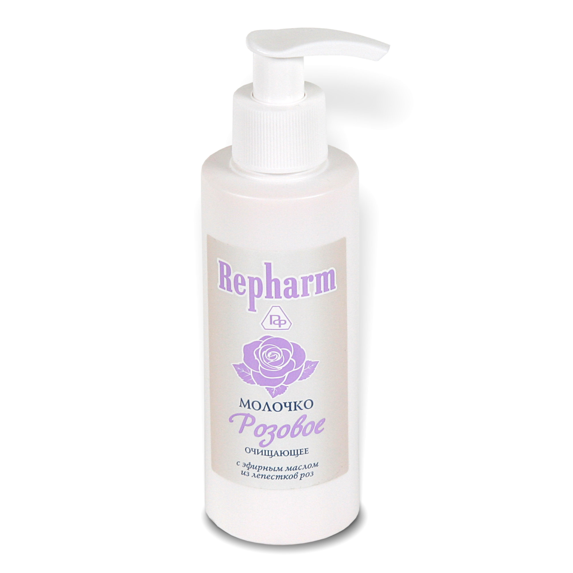 РЕФАРМ Молочко очищающее  РОЗОВОЕ  / Repharm 150млМолочко<br>С эфирным маслом из лепестков роз для сухой и нормальной кожи. Деликатно очищает кожу, снимает макияж и загрязнения. Молочко способствует очистке и сужению пор, успокаивает, устраняет раздражение и шелушение. Эфирное розовое масло освежает, тонизирует и разглаживает кожу.<br><br>Объем: 150 мл