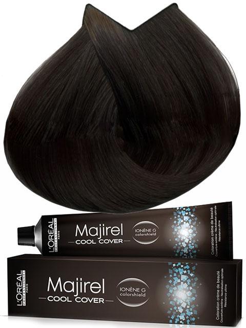 LOREAL PROFESSIONNEL 6.11 краска для волос / МАЖИРЕЛЬ КУЛ КАВЕР 50млКраски<br>Оттенок - темный блондин глубокий пепельный. LOreal Professionnel представляет краску для волос Majirel Cool Cover   ультра холодные оттенки с усиленной нейтрализацией и более плотным покрытием седины впервые в L Oreal Professionnel. 19 новых оттенков открывают совершенно новое восприятие холодных оттенков на волосах Ваших клиенток   от благородного холодного каштана, до изысканного ледяного блонда. Глубокие и насыщенные холодные тона еще никогда не выглядели так натурально и сияюще. Majirel Cool Cover Насыщенные стойкие оттенки. Экстра плотное покрытие седых волос. Оттенки для идеального плотного покрытия седины и насыщенного холодного результата. Способ применения: Подготовка: &amp;nbsp;1. Менее 50% седых волос- Использовать только выбранный оттенок Majirel Cool Cover. &amp;nbsp;2. Более 50% седых волос &amp;nbsp;2.1 Естественное покрытие - Использовать только выбранный оттенок Majirel Cool Cover без смешивания с базовыми оттенками Majirel Cool Cover. &amp;nbsp;2.2 Плотное покрытие - 1/2 желаемого оттенка Majirel Cool Cover + 1/2 базового оттенка Majirel Cool Cover того же уровня тона. Пропорции смешивания: краситель Majirel Cool Cover используется в следующей пропорции. При осветлении до 2-х тонов смешайте 1 тюбик крем-краски Majirel Cool Cover 50 мл. с 75 мл. оксидента 6%&amp;nbsp;(20 vol.). Для осветления до 3-х и более тонов используйте оксидент 9% (30 vol.). Не используйте с оксидентами мощностью более 9% (30 vol.)! Нанесение: 1. Натуральные (неокрашенные) волосы - начинайте нанесение с длины и концов, используйте Крем-Оксидент 9% (30 волюм). Оставьте на 15 минут. Приготовьте новую смесь и нанесите ее на корни. Распределите по длине и на концы, обращая внимание на однородность нанесения. Выдержите 35 минут. 2. Повторное окрашивание.&amp;nbsp; &amp;nbsp;2.1 Цвет вымылся слабо - нанесите смесь Majirel Cool Cover на корни. Выдержите 30 минут. Распределите смесь на длину, добавив 10-15 